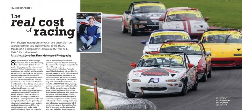 Total MX-5 article cost of racing